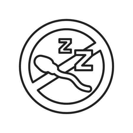 Infertility male black line icon. Azoospermia concept. Men's health problems. Sign for web page, mobile app, banner, social media. Editable stroke