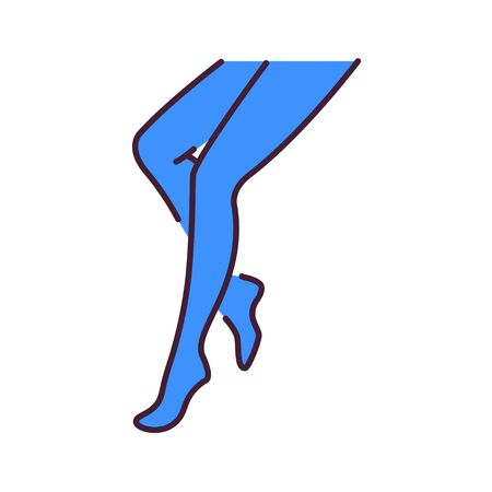 Strumpfhosen Dessous Farbe Symbol Leitung. Piktogramm für Webseite, mobile App, Promo. UI UX GUI-Designelement. Bearbeitbarer Strich Vektorgrafik