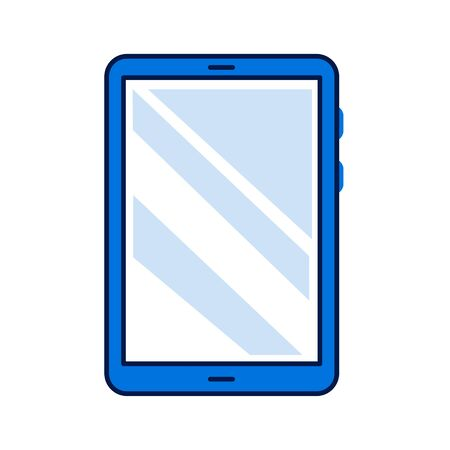 Tablet computer color line icon. Front view. Electronic device. Pictogram for web page, mobile app, promo. Editable stroke Stock Photo - 140040861