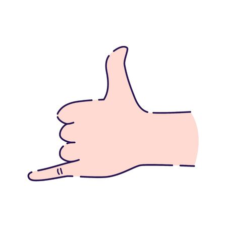 Call me hand gesture line icon. Shaka brah symbol. Pictogram for web page, mobile app, promo. UI UX GUI design element. Editable stroke.
