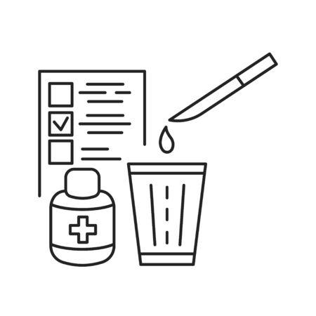 Immunization black line icon. Immune system protection in children. Pictogram for web page, mobile app, promo. UI UX GUI design element.