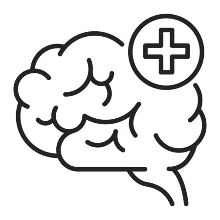 Improving brain activity black line icon. Exercising the brain to improve memory, focus, or daily functionality. Pictogram for web page, mobile app, promo. UI UX GUI design element. Editable stroke. Vetores