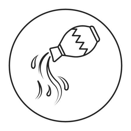 Aquarius black line icon. Zodiac sign. Astrology and horoscope. Predictions and human character. Element air. Ruler Uranus. UI UX GUI design element. Editable stroke.