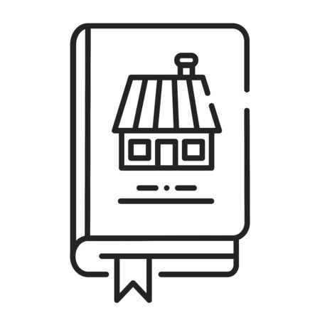Household book black line icon. Guide how to run a household. Domestic advice and ideas. Popular among housewifes. Pictogram for web page, mobile app, promo. UI UX GUI design element. Editable stroke