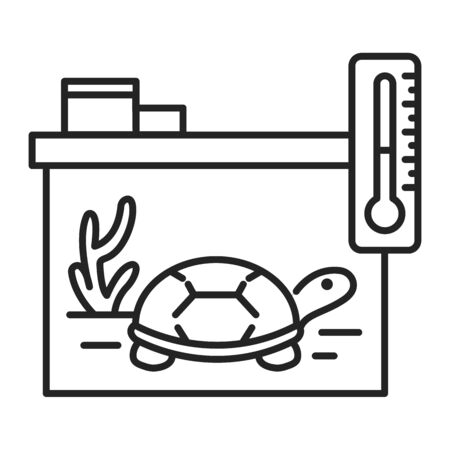 Reptile care black line icon. Improving the life of reptiles. Actions aimed at their care. Pictogram for web page, mobile app, promo. UI UX GUI design element