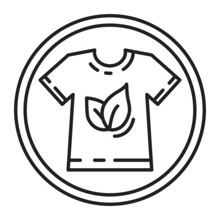 Global Organic Textile black line icon. World-wide recognized requirements that ensure organic status of textiles. Pictogram for web page, mobile app, promo. UI UX GUI design element. Editable stroke.