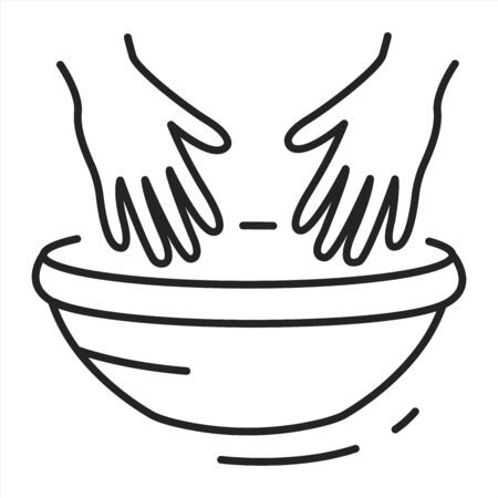 SPA treatments hands black line icon. Cleanse, exfoliate, and hydrate the skin on hands. Pictogram for web page, mobile app, promo. UI UX GUI design element. Editable stroke.