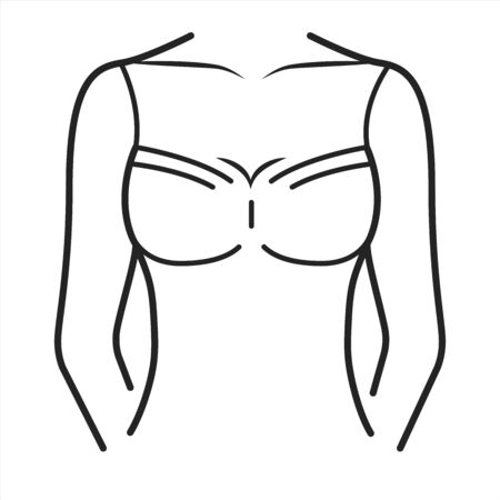 Shirt lingerie black line icon. Cloth garment for the upper body from the neck to the waist . Pictogram for web page, mobile app, promo. UI UX GUI design element. Editable stroke.
