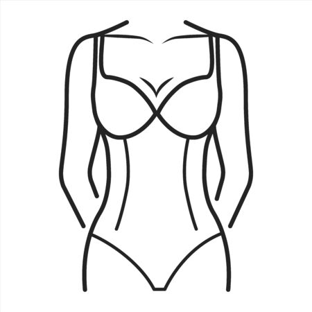 Slimming lingerie black line icon. Type of underwear. Corrects and perfects the contours of figure. Pictogram for web page, mobile app, promo. UI UX GUI design element. Editable stroke.