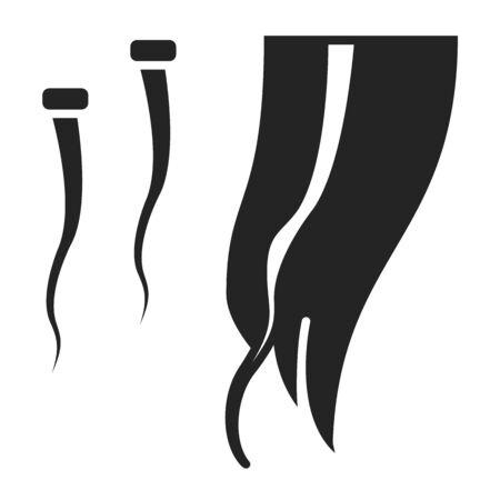 Hair extension black glyph icon. Hairdresser services. Professional hair styling. Beauty industry. Pictogram for web page, promo. UI UX GUI design element