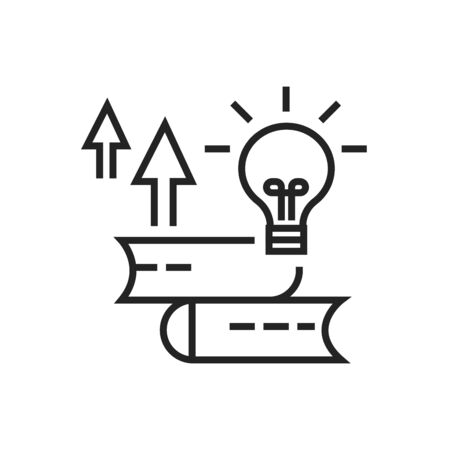 Personal development courses black line icon. Self improvement. Pictogram for web page, mobile app. UI UX GUI design element. Illustration
