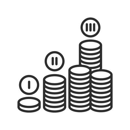 Financial plan black line icon. Plan for functioning and development enterprise in monetary terms. Pictogram for web page, mobile app, promo. UI UX GUI design element. Editable stroke