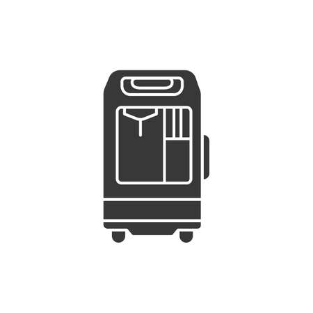 Oxygen concentrator glyph black icon. concept. Sign for web page, mobile app. Vector isolated element Иллюстрация