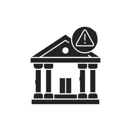 Banking scam black glyph icon. Illegal action. Financial fraud. Pictogram for web page, mobile app, promo. UI UX GUI design element Vettoriali