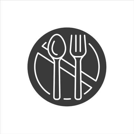 Starvation black glyph icon. Poverty, risis. Social problem concept. Sign for web page, mobile app, banner, social media Ilustração