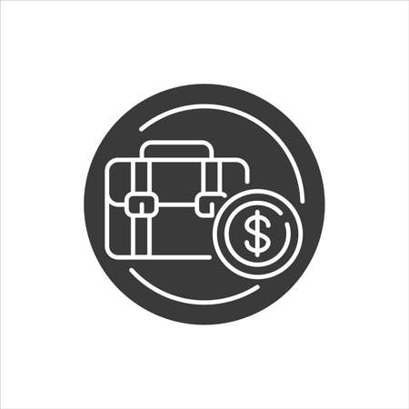 Unemployment black glyph icon. Job loss, crisis. Social problem concept. Sign for web page, mobile app, banner, social media. Ilustração