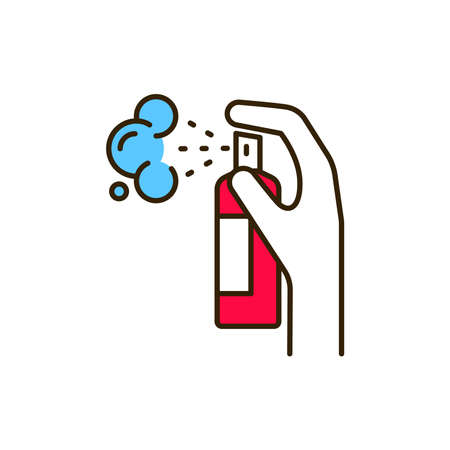 Antiseptic product color line icon. Pictogram for web page, mobile app, promo. UI UX GUI design element. Editable stroke  イラスト・ベクター素材