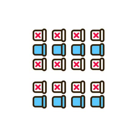 Seating on the plane color line icon. Safe travel. Pictogram for web, mobile app, promo. UI UX design element Ilustração