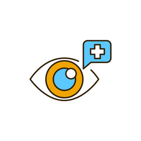 Medical check color line icon. Safe travel. Pictogram for web, mobile app, promo. UI UX design element.