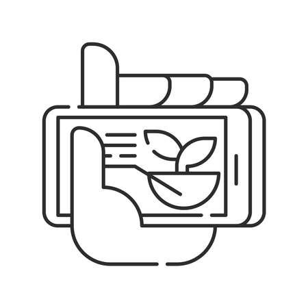 Plant management black line icon. Smart farm. Sign for web page, app. UI UX GUI design element. Editable stroke. Ilustração