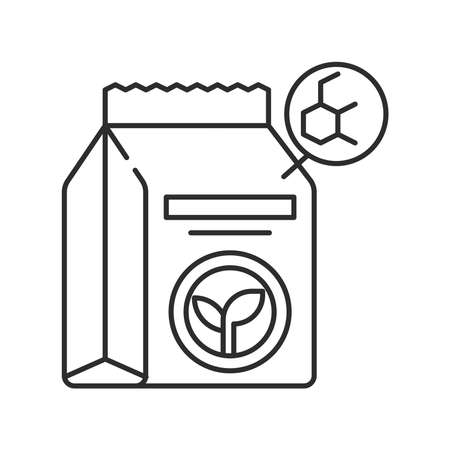 Organic product. Smart farming black linear icon. Checking. Agricultural IOT. Sign for web page, app. UI UX GUI design element. Editable stroke. Ilustração