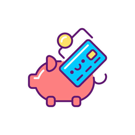 Budgeting line color icon. Event management. Sign for web page, mobile app, button. Vector isolated element. Editable stroke.