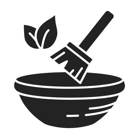 Natural dyes. Green manufacturing process black line icon. Pictogram for web page, mobile app, promo. UI UX GUI design element. Editable stroke