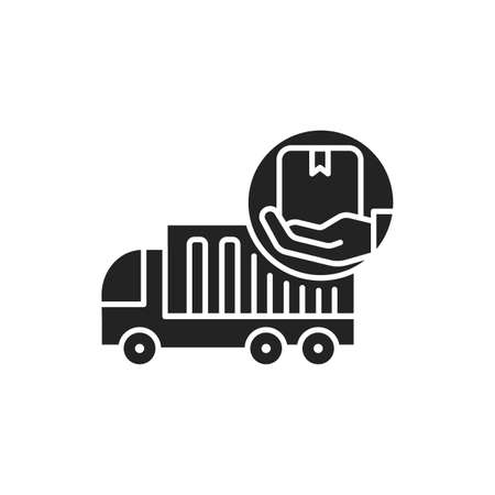 Moving Help black glyph icon. Help from the initial packing and wrapping to heavy lifting. Handyman services. Pictogram for web page, mobile app, promo. UI UX GUI design element. 版權商用圖片 - 152280465