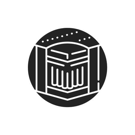 Independent spring bed mattress black glyph icon. Constructed from a basic pocket-coil system. Wrapped in fabric. Pictogram for web page, mobile app, promo. UI UX GUI design element