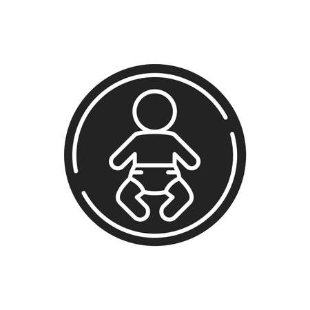 Orthopedic mattress for baby black glyph icon. Designed to support the joints, back and overall body. Pictogram for web page, mobile app, promo. UI UX GUI design element