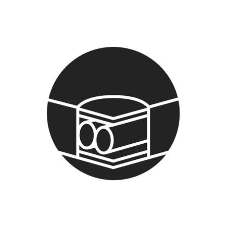 Air mattress system black glyph icon. Effective support surface. Used for the prevention of pressure ulcers. Pictogram for web page, mobile app, promo. UI UX GUI design element. Editable stroke 版權商用圖片 - 152313817