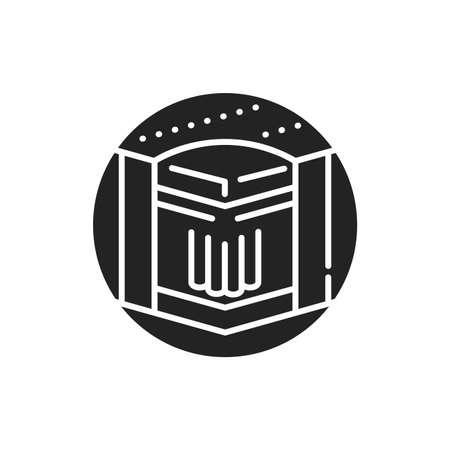 Medium hard bed mattress black glyph icon. High orthopedic properties and optimum rigidity. Pictogram for web page, mobile app, promo. UI UX GUI design element 版權商用圖片 - 152287224