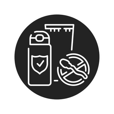 Spermicide tube black glyph icon. Women contraceptive. Birth control. Safety sex sign. Pictogram for web page, mobile app. UI UX GUI design element. 向量圖像