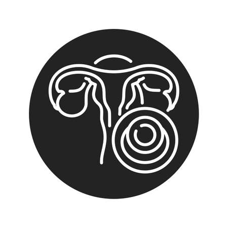 Contraceptive sponge black glyph icon. Protection from sexually transmitted infections. Birth control. Safety sex sign. Pictogram for web page, mobile app. UI UX GUI design element 版權商用圖片 - 152424119