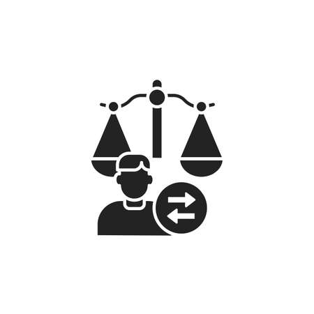 Child custody glyph black icon. Judiciary concept. Separation agreement, adoption. Family law.