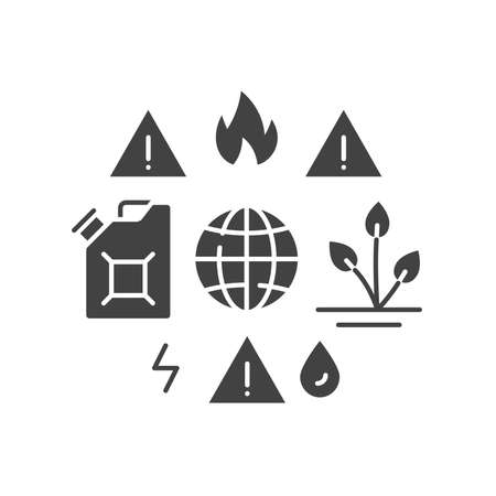 Lack natural resources black glyph icon. Overconsumption. Environmental problems. Sign for web page, app. UI UX GUI design element.