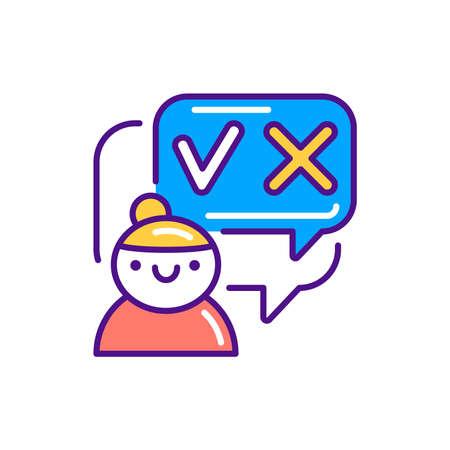 Decision-making color line icon. Soft skills. Pictogram for web, mobile app, promo. UI UX design element