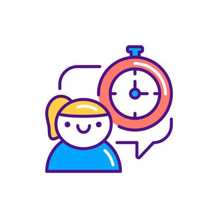 Discipline color line icon. Soft skills. Pictogram for web, mobile app, promo. UI UX design element.