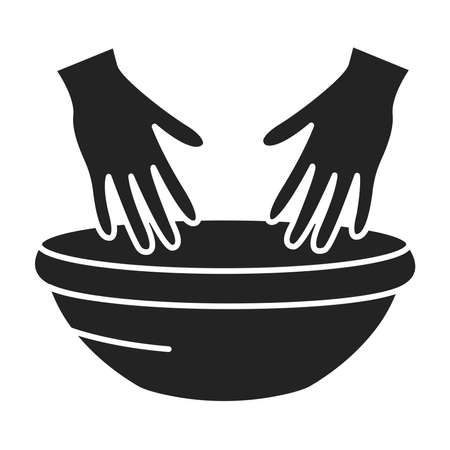 SPA treatments hands black glyph icon. Cleanse, exfoliate, and hydrate the skin on hands. Pictogram for web page, mobile app, promo. UI UX GUI design element