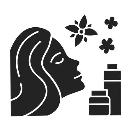 SPA face procedures black glyph icon. Cosmetic and care procedures. Pictogram for web page, mobile app, promo. UI UX GUI design element