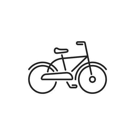 Bicycle black line icon. City transport rental. Pictogram for web, mobile app, promo. UI UX design element. Editable stroke.