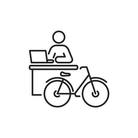 City transport rental service black line icon. Pictogram for web, mobile app, promo. UI UX design element. Editable stroke.