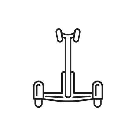 Electric gyroscooter black line icon. City transport rental. Pictogram for web, mobile app, promo. UI UX design element. Editable stroke. 向量圖像