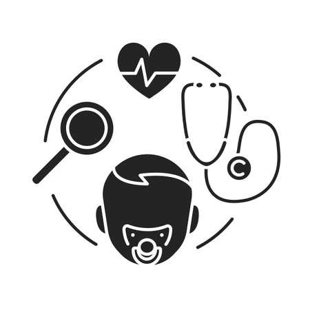 Pediatric health care sign vector on white