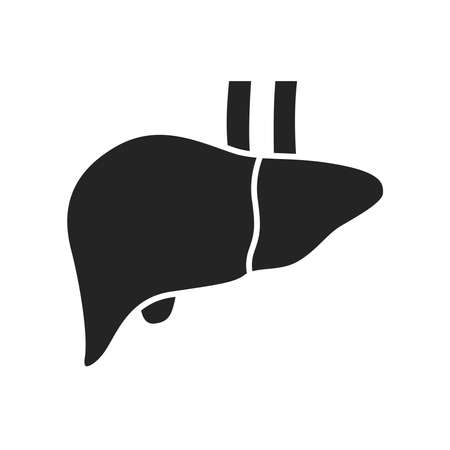 Liver glyph black icon. Human organ concept. Sign for web page, mobile app, button. Vector isolated element.