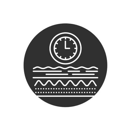 Aging process glyph black icon. Appearance of wrinkles . Skin care. Sign for web page, mobile app, button, logo. Vector isolated element.