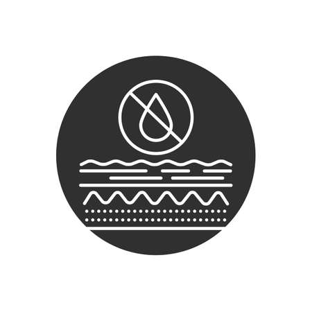 Skin dehydration glyph black icon. Dry, itchy, uneven skin. Sign for web page, mobile app, button, logo Vector isolated element.