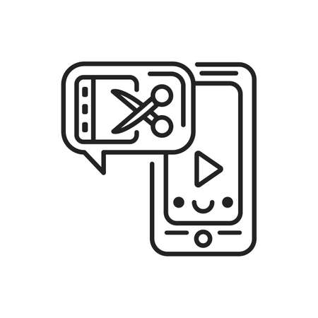 Video content tools black icon. Custom video content. Sign for web page, mobile app, button