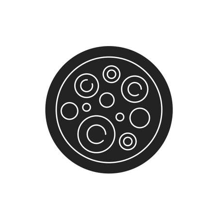 Stem cells black glyph icon. Cells that can differentiate into other types of cells. Can also divide in self-renewal to produce more cells. Pictogram for web page, mobile app, promo Illusztráció