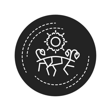 Drought black glyph icon. A continuous period of dry weather. An area gets less than its normal amount of rains. Pictogram for web page, mobile app, promo. UI UX GUI design element